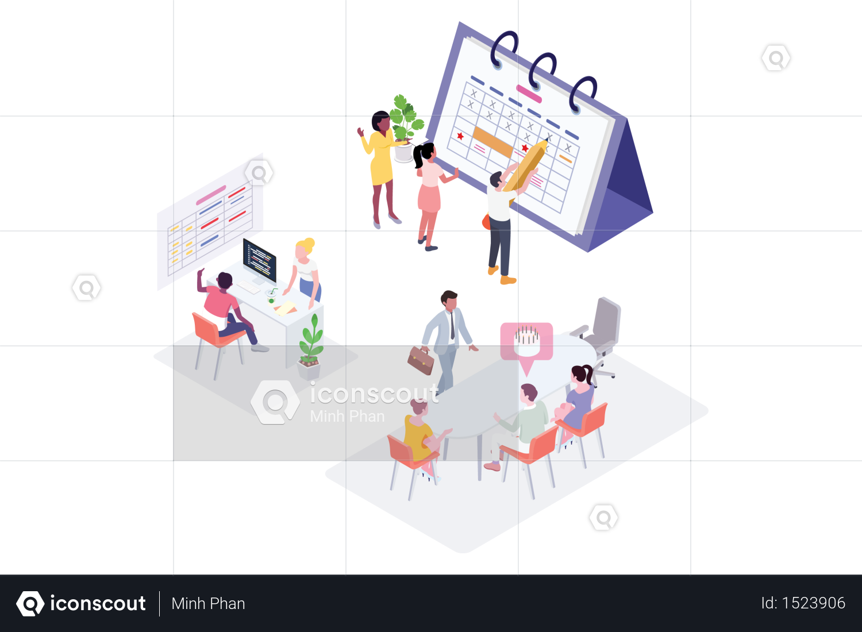 Premium Planning Schedule Concept Illustration Download In Png Vector Format Illustration Concept Free Design Resources