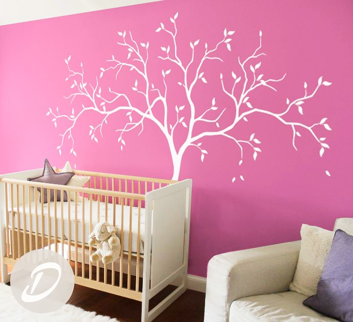 pink wall - wall decal for baby room #pink #decal #amelia #etsy