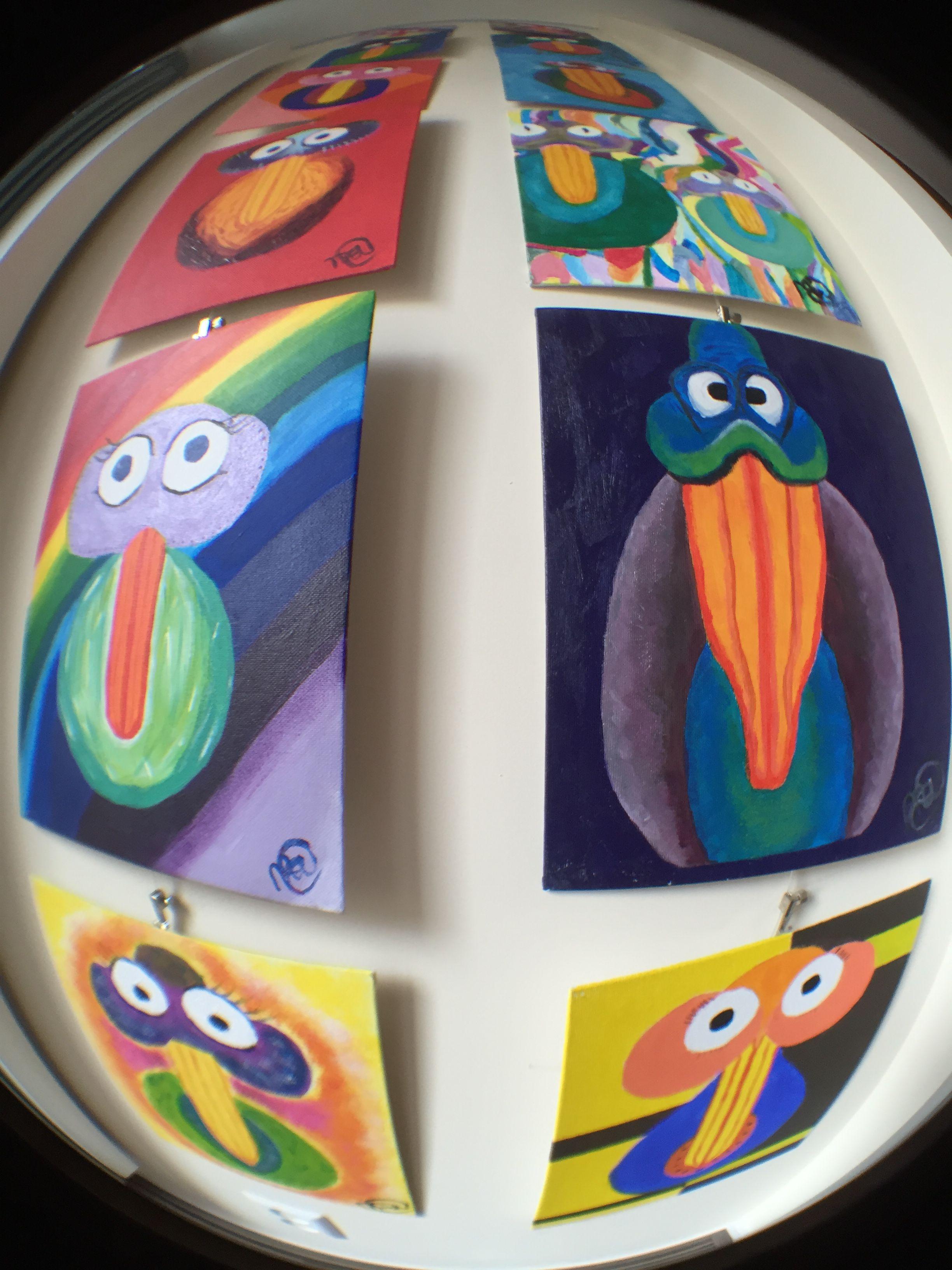 Birdymarble Wednesday  25-05-2016; New Birds today; #M16SunnyBird and #M31EquallyOddBird