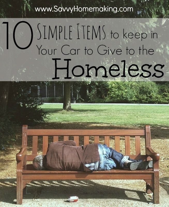 10 Simple Items To Keep In Your Car To Give To The