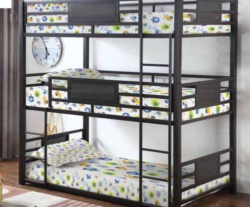 Jordy Dark Bronze Steel Twin Size 3 Bed Bunk Bunk Beds Triple