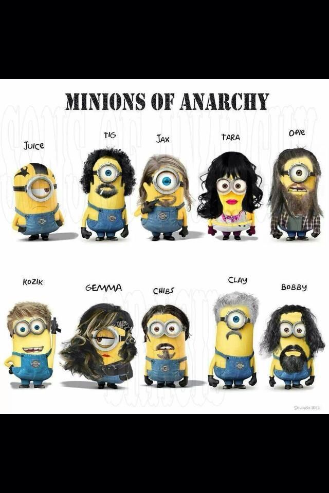 Sons Minions Sons Of Anarchy Minions Funny Minions