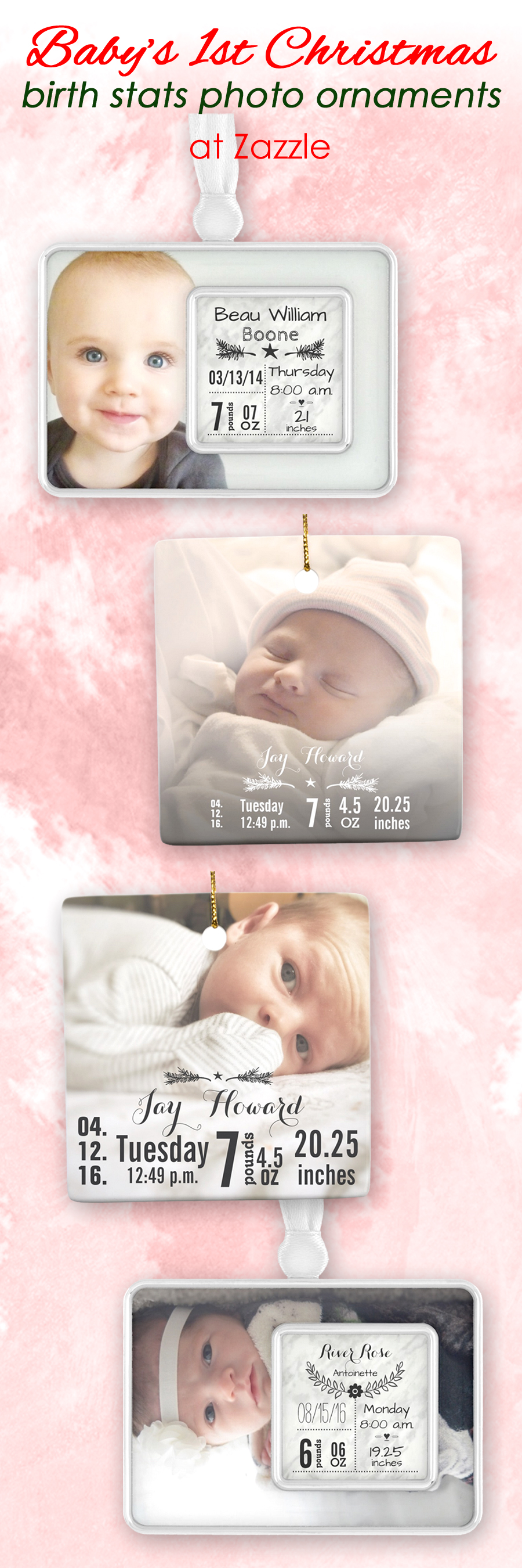 New baby ornaments - Baby S 1st Christmas Tree Ornament New Baby Photo Ornaments With Customizable Newborn Birth Stats Info Choose From Silver Plated Framed Ornament