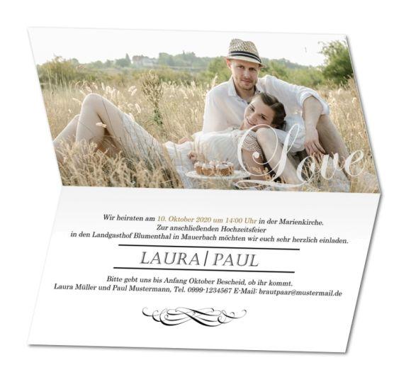 einladungskarten mit foto hochzeit – ledeclairage, Einladungsentwurf