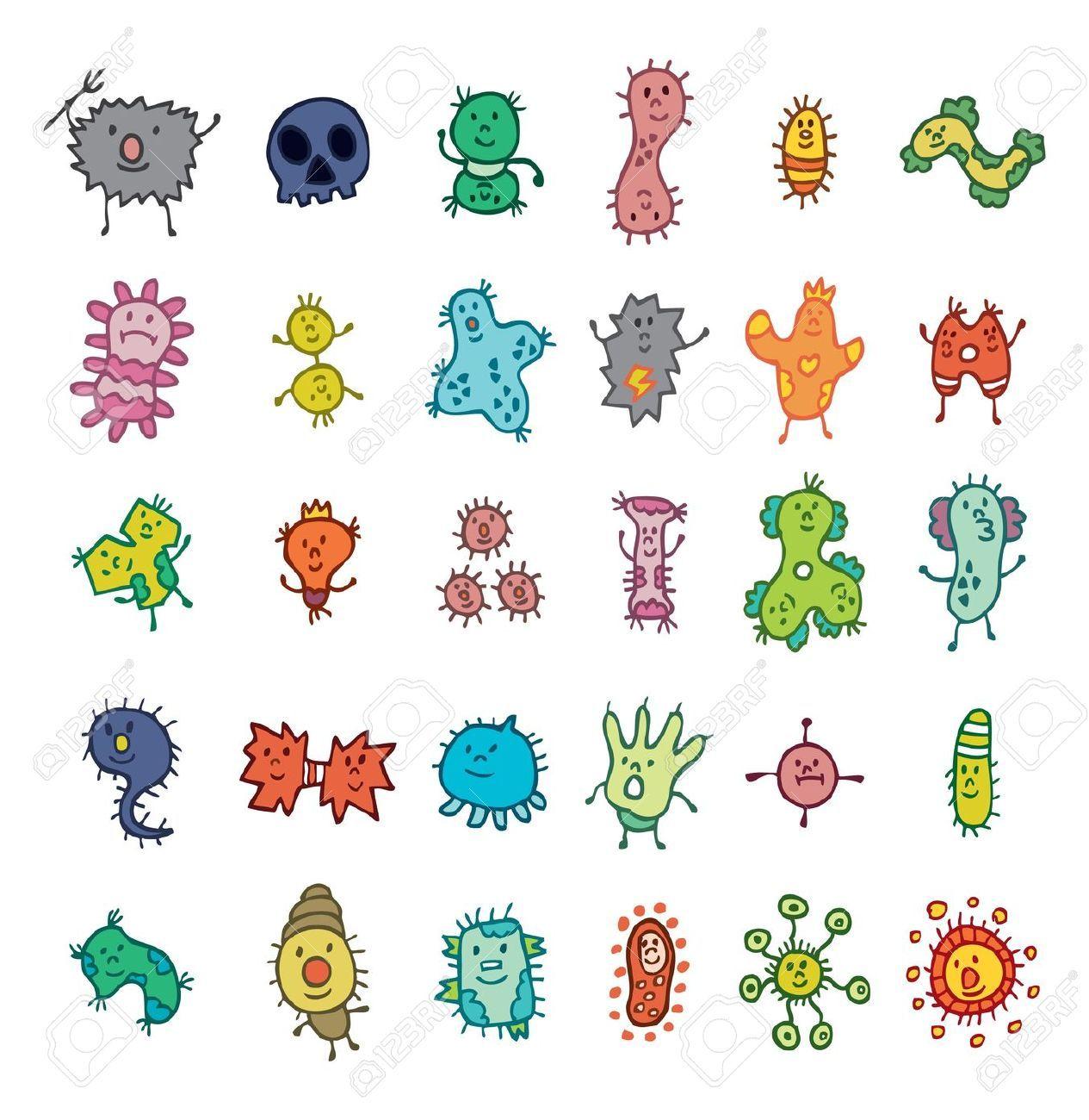 Microbe Pattern Wallpaper