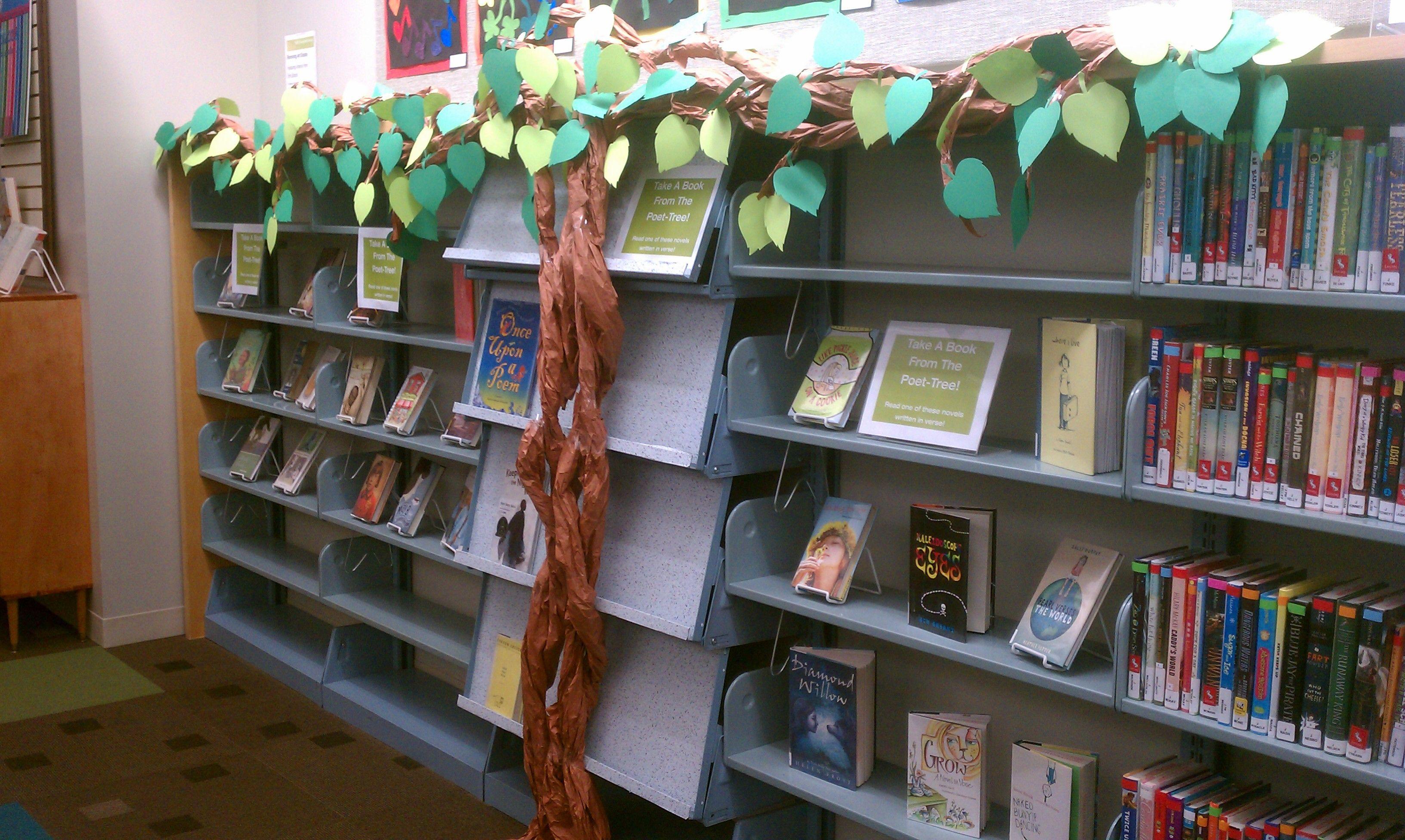 Hinsdale Public Library Poet Tree Display