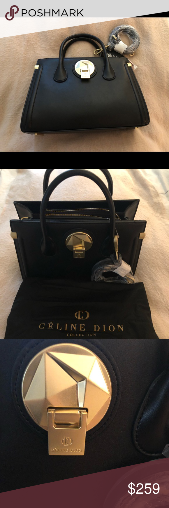 1715a4a849 Celine Dion Octave Leather Bag Brand new with tag attached and dust bag  included. Removable strap for dual style  satchel or crossbody celine dion  Bags ...