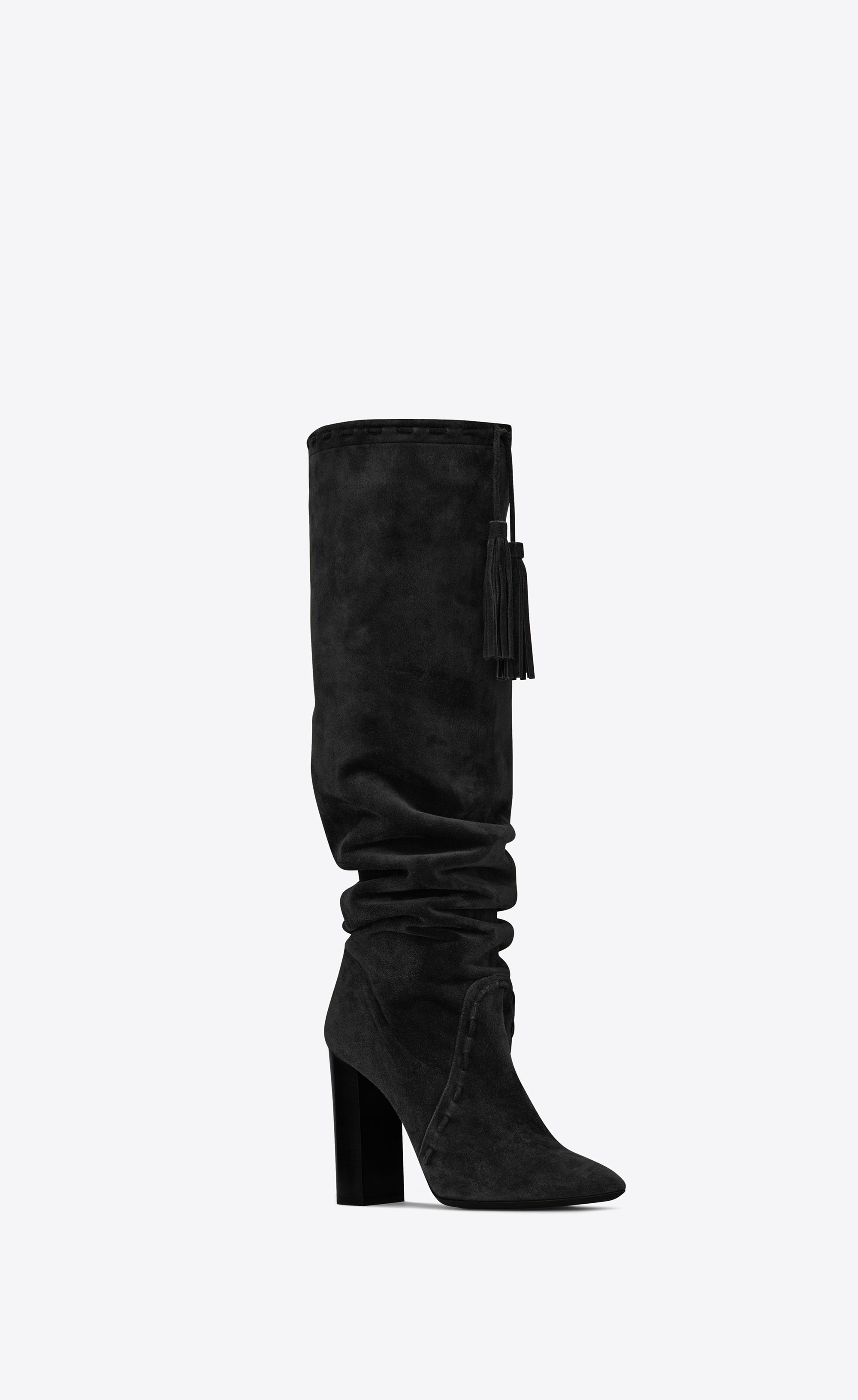 37ac5ed8bbf1 Saint Laurent - Meurice tasseled boot in black suede ( 1