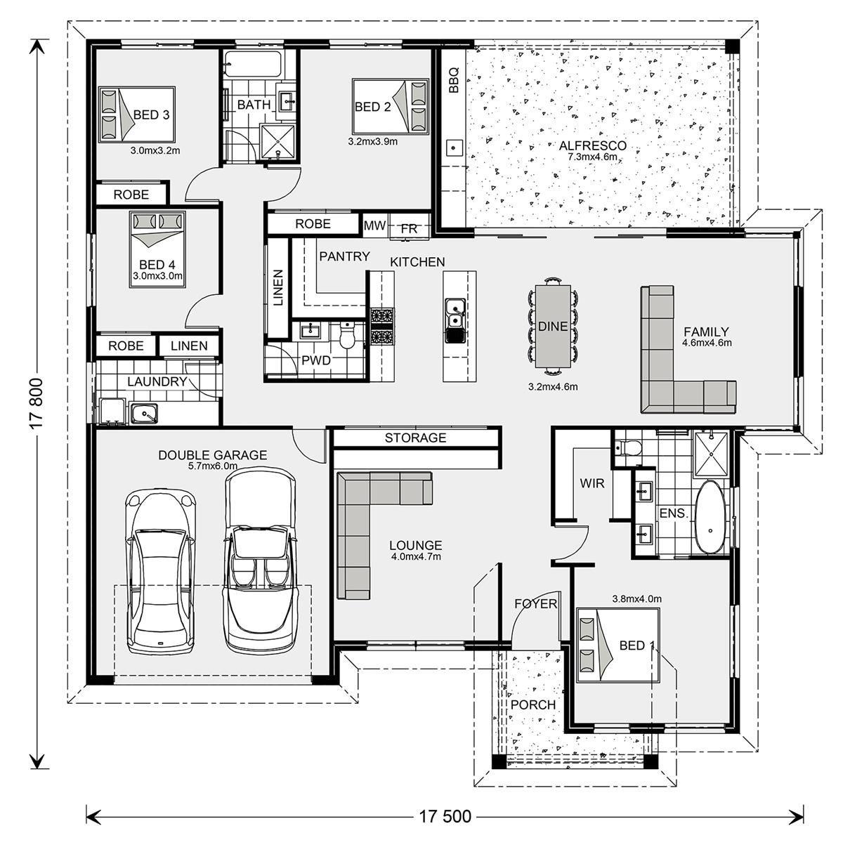 Fernbank 266 Display Homes In Albury G J Gardner Homes In 2020 Small House Plans New House Plans 4 Bedroom House Plans
