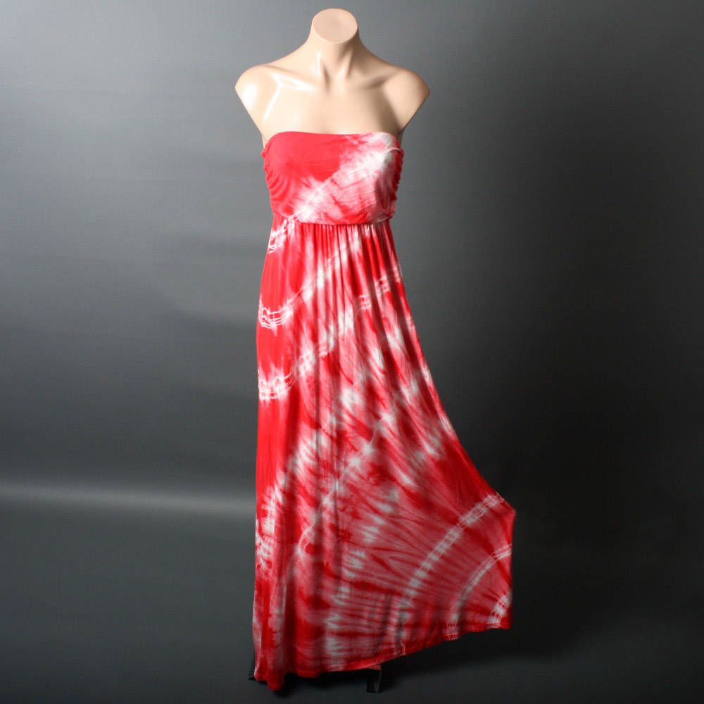 Strapless Maxi Sundress