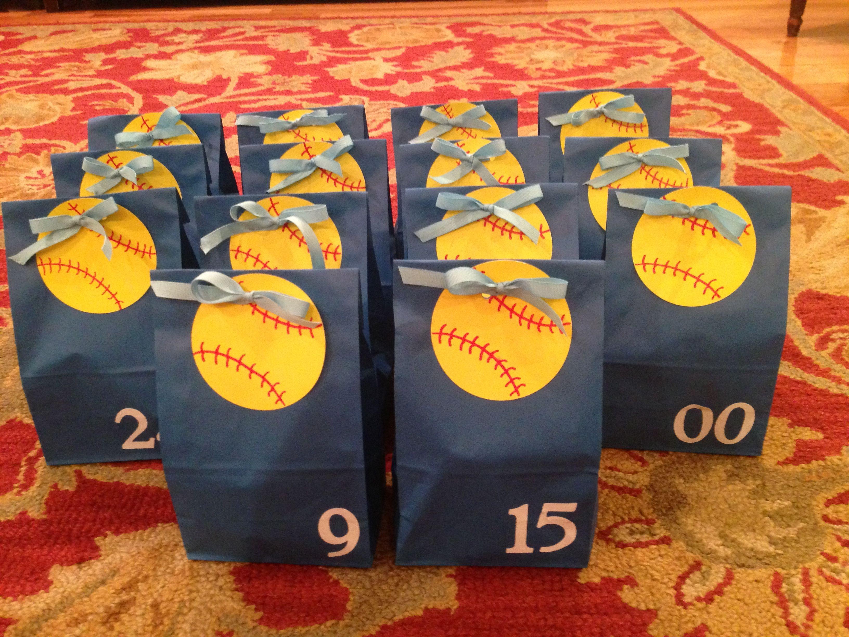 softball goodie bags for the team!! | softball stuff | pinterest