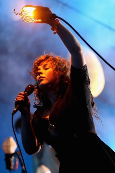 Megan James of Purity Ring during the 2013 Coachella Valley