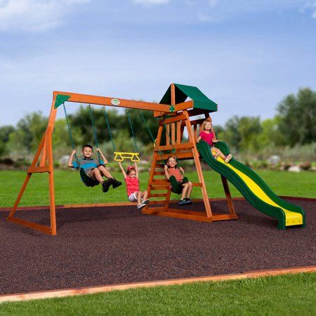 Toys | Backyard swing sets, Cedar swing sets, Backyard swings