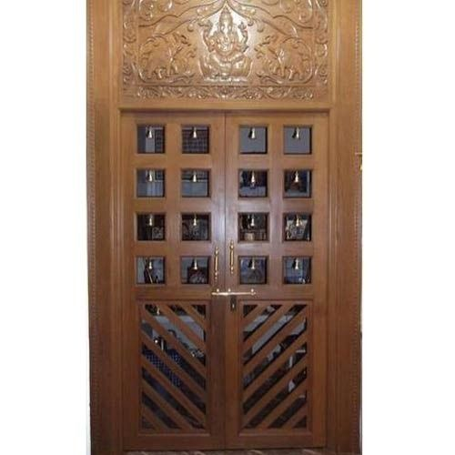 teak wood puja room door 500x500jpg 500500 Pooja Room