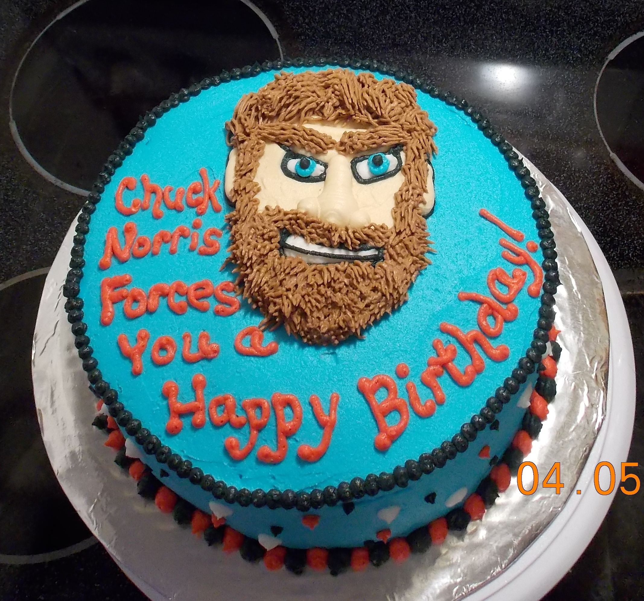 Outstanding Chuck Norris Cake For My Brother Its Our Thing Cake Desserts Funny Birthday Cards Online Alyptdamsfinfo