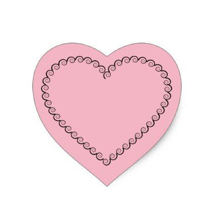 Heart shaped heart sticker shower gifts diy customize creative