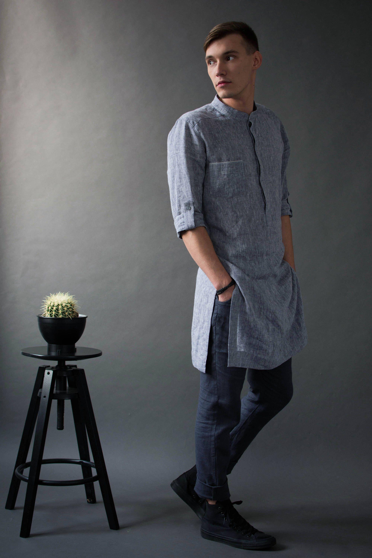 finest selection 866e6 6fc66 Mens linen long shirt/ Tunic for man/ Gift for him /Linen ...