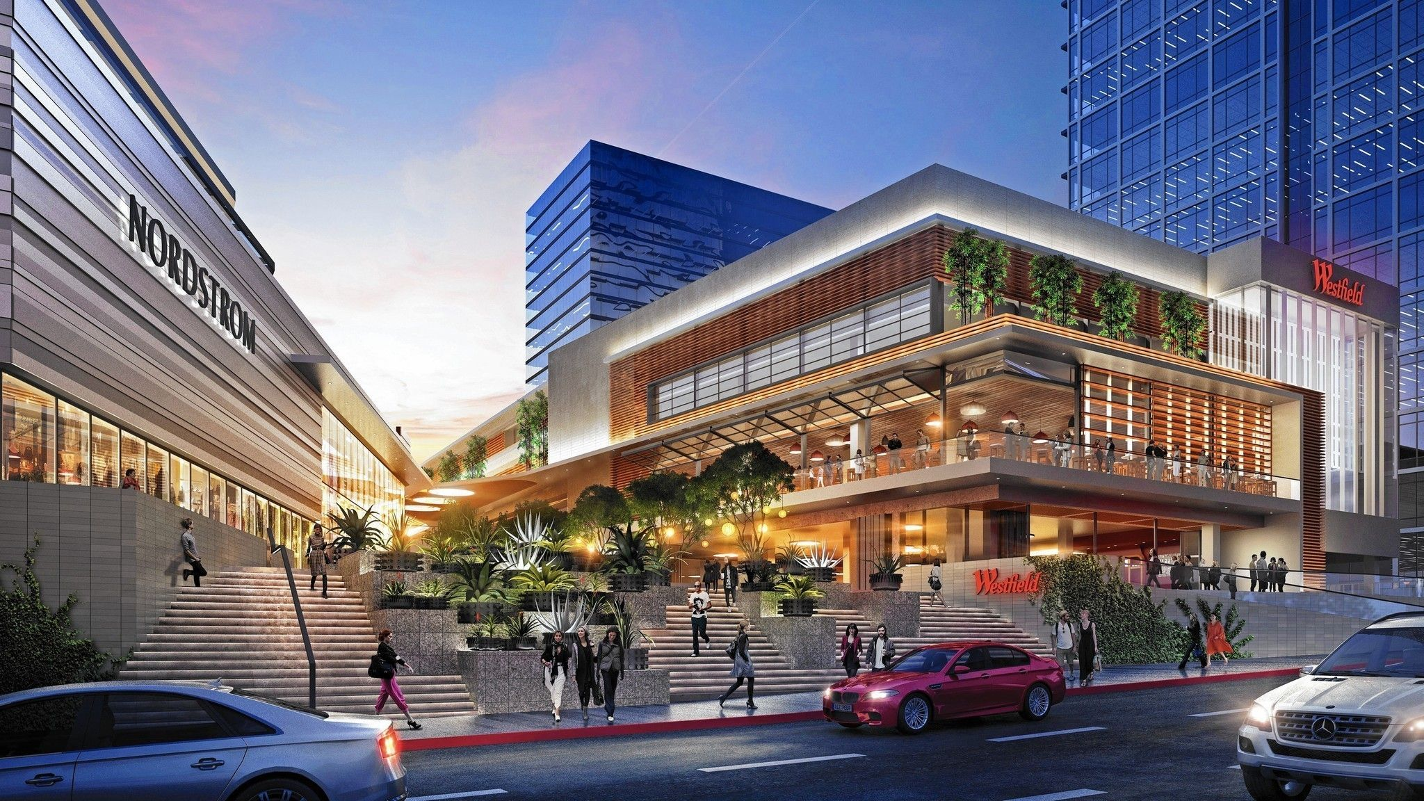 Nordstrom And Eataly Are Helping Century City S Mall Go Glam Westfield Century City Century City Retail Facade
