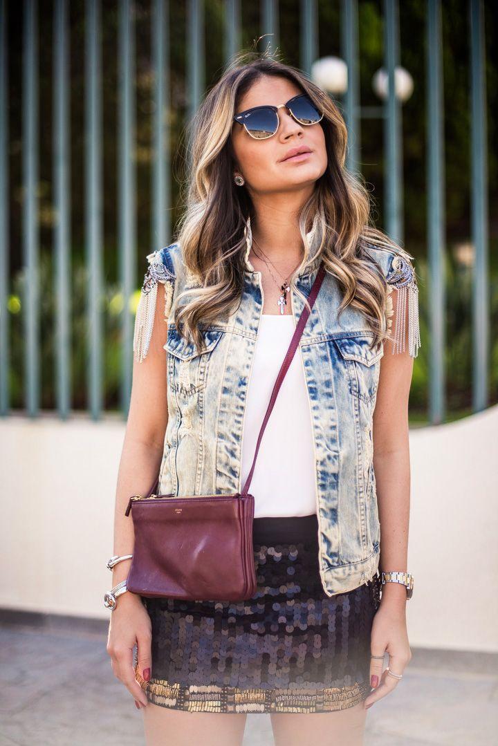 MEU LOOK – DENIM VEST! BY THÁSSIA NAVES   Style   Pinterest   Street ... fc50537ef3