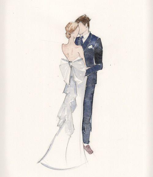 Wedding Drawings: Couple Painting, Wedding