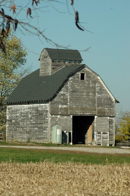 Barn On Barn Adore The Repeat Of The Roof Style Of The Ventilation Topper Saw Many Of These In Illinois Wooden Barn Old Barns Farm Barn