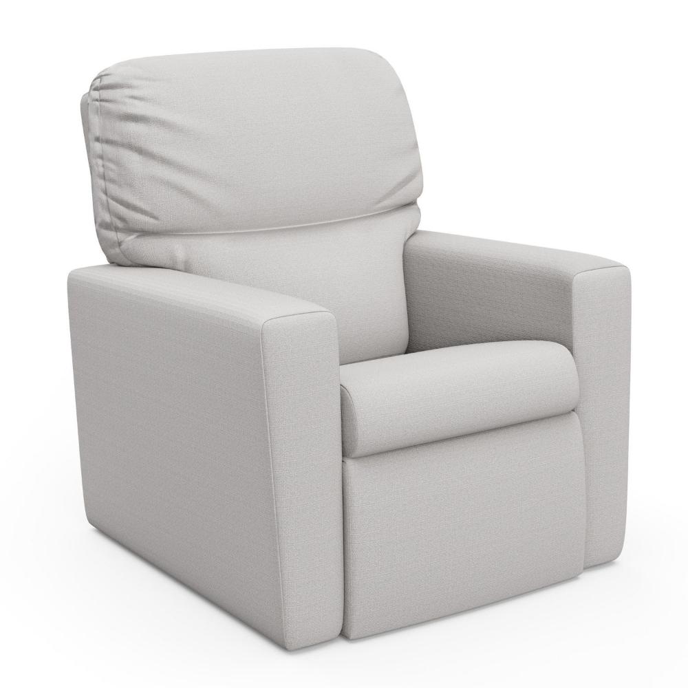 Storkcraft Belmont Upholstered Glider Chair London Grey Glider