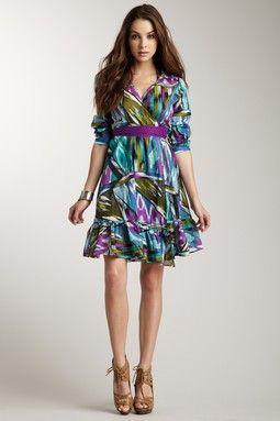 Ethnic Wraparound Dress