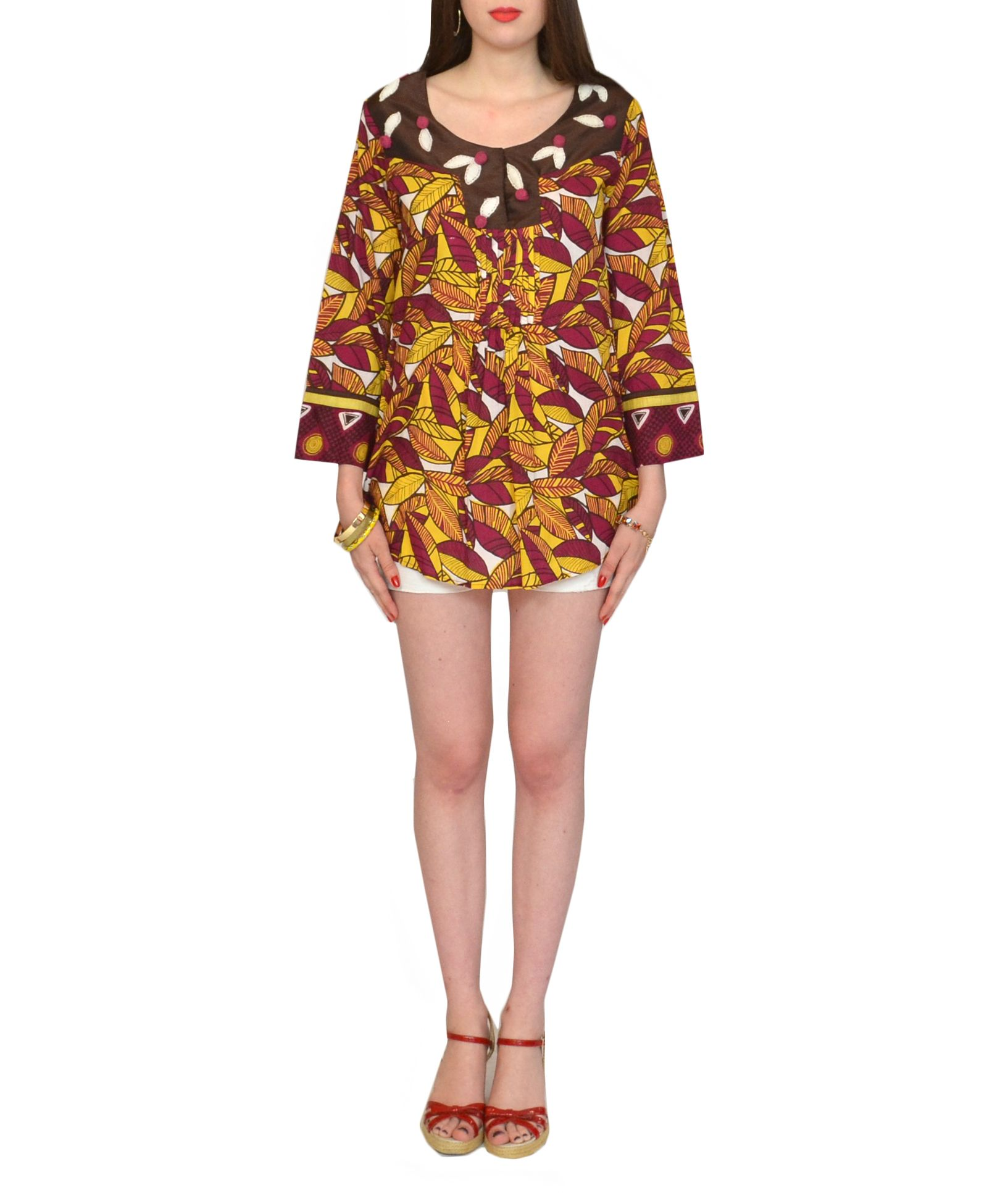 #kasnewyork #lynette #tunic #tropical #print #yellow #purple  Shop the look on KAS New York:http://www.kasnewyork.com/index.php?page=productslist&storeid=89&categoryID=1254&subcatID=&subsubcatID=&prodid=11121&sess=store89