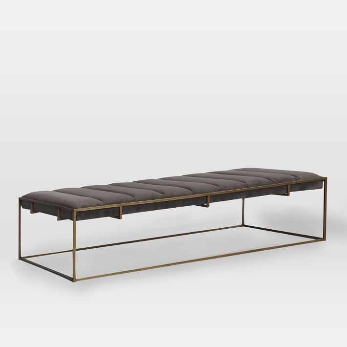 Fontanne Upholstered Ottoman Rectangle Leather Coffee Table