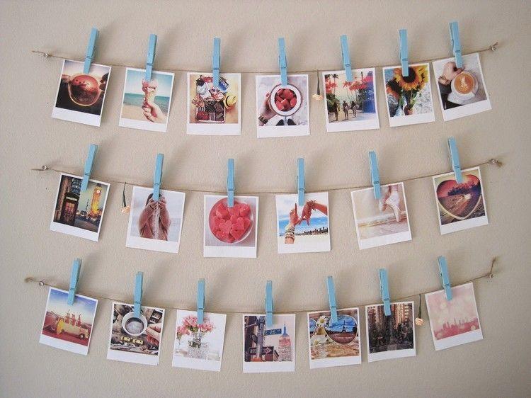 Pele Mele Photos A Faire Soi Meme Un Cadeau Personnalise Guirlande Photos Accrocher Des Photos Pele Mele Photo