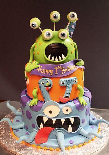 Ultimate Monster Geburtstagstorte Inspiration Board – 13 erstaunliche Kuchen   – Cakes