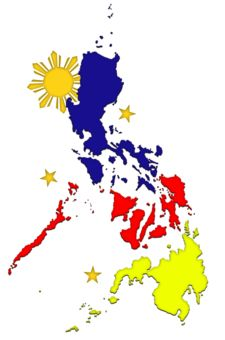 the philippine map one sun and three stars explore philippines rh pinterest com