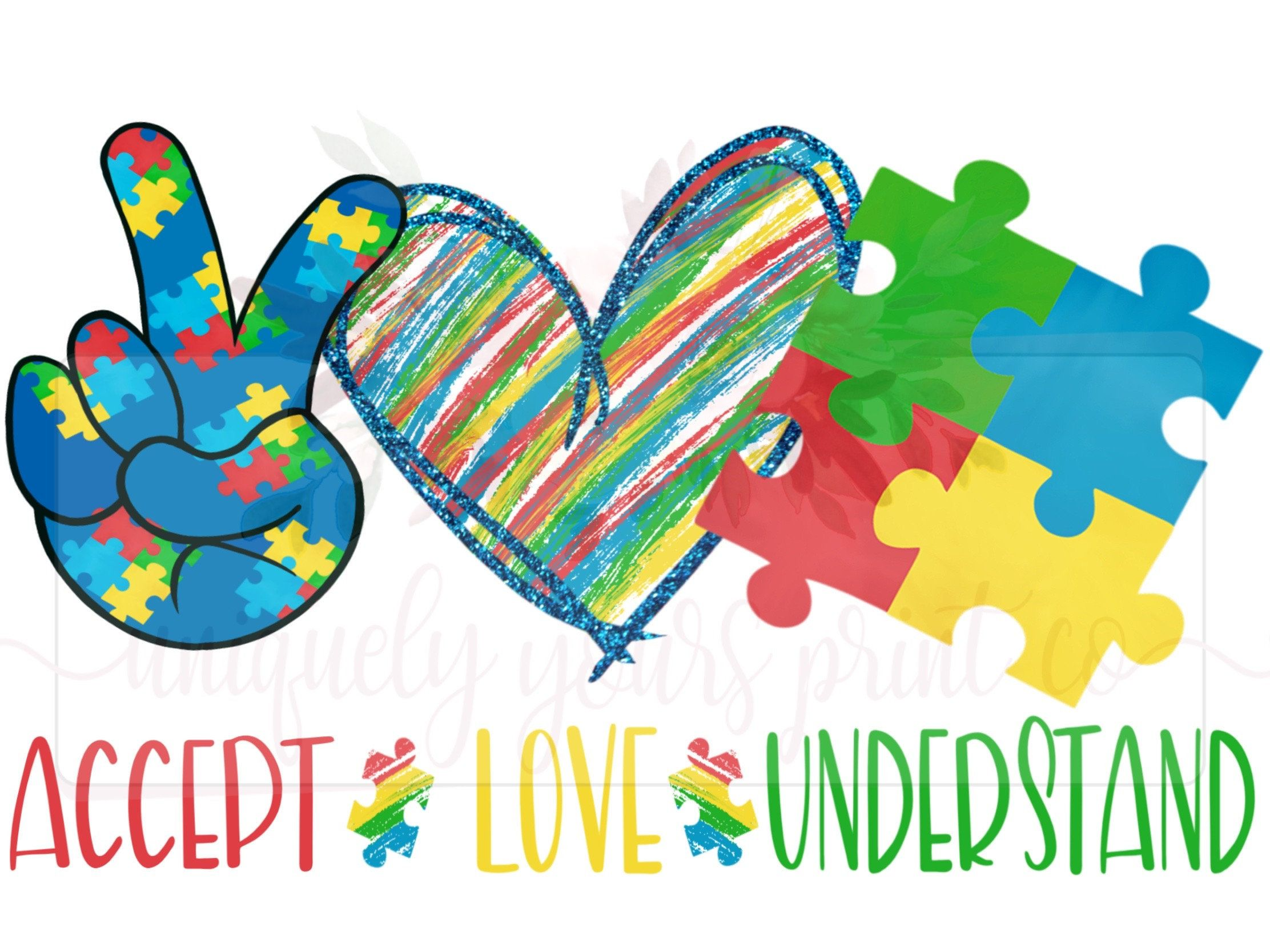 Autism Awareness Digital Download Png Sublimation Hand Drawn Doodle Puzzle Pieces Printable Accept Love Understand Peace In 2021 How To Draw Hands Peace And Love Cricut Projects Vinyl
