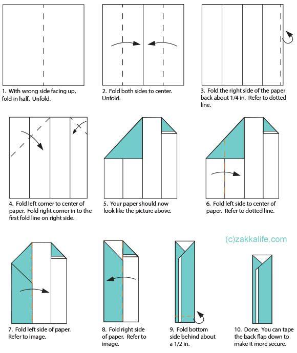 ZAKKALIFE.COM | Chopstick holder, Origami easy, Origami