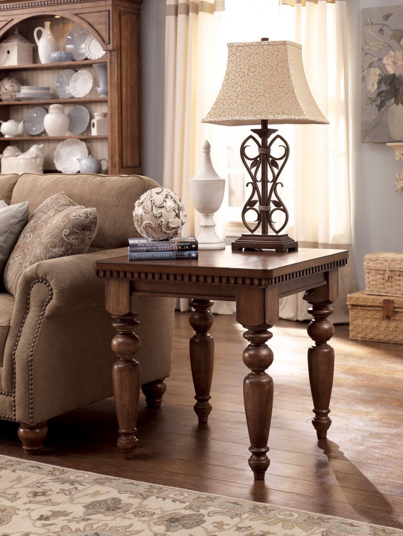 ashley millenium summerlands end table  furniture living