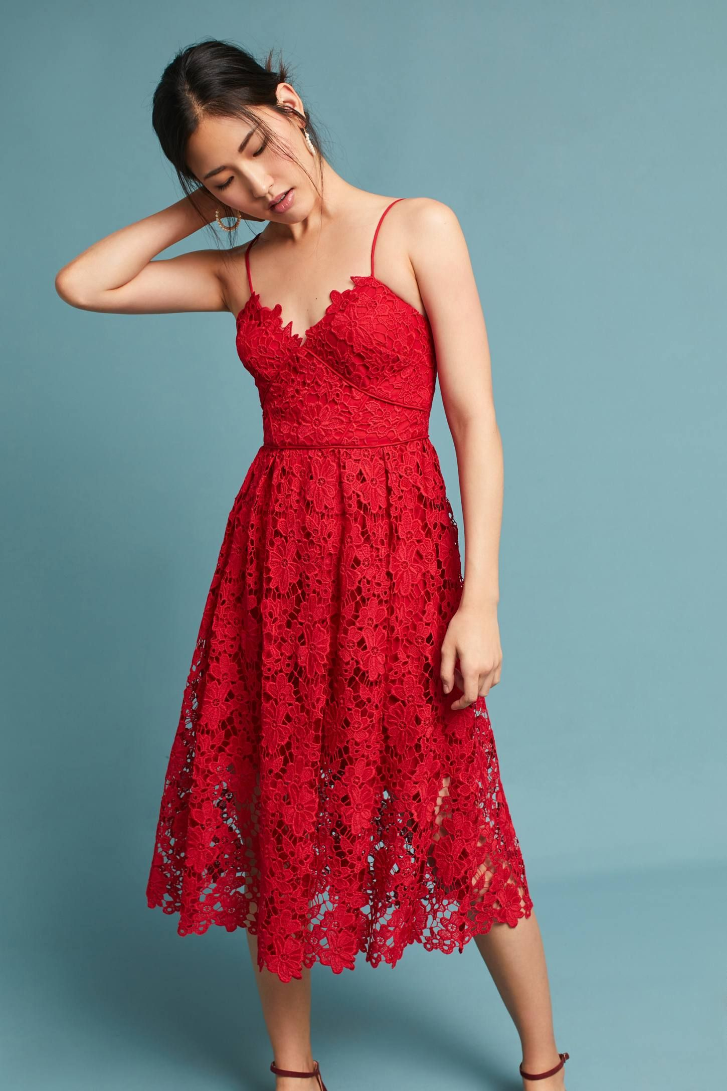 Scarlet Lace Dress | Pinterest | Scarlet, Lace dress and Anthropologie