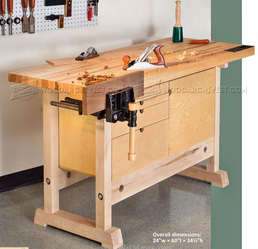 2385 Compact Workbench Plans Workshop Solutions Woodworking