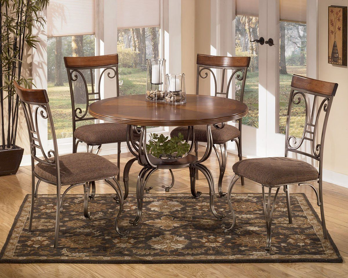 Get Your Plentywood Round Table U0026 4 UPH Side Chairs At Furniture Factory  Outlet, Warsaw IN Furniture Store.