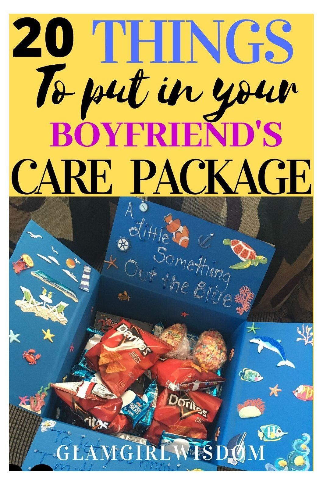 20 things to put in your Boyfriends Care package #