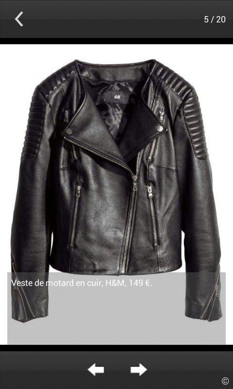 Veste de motard en cuire H&M