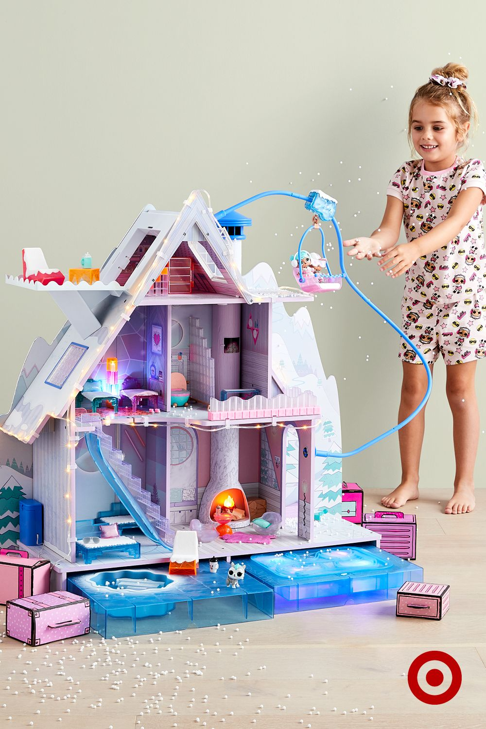 Best L O L Surprise Winter Disco Chalet Doll House With 95 400 x 300