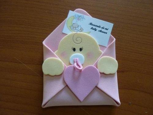 Invitación de baby shower de foami - Imagui