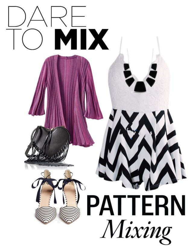 """""""Pattern Mixing, Dare to mix"""" by jnnipper-hipsterfashionlover ❤ liked on Polyvore featuring TravelSmith, Rebecca Minkoff, J.Crew, Karen Kane and patternmixing"""