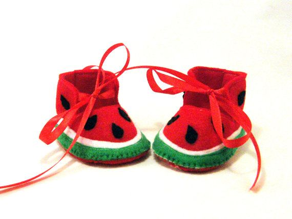 Watermelon Booties     these are adorable <3