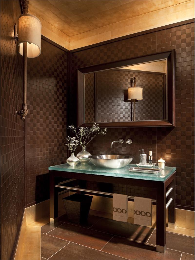 Powder Room Bathroom Design Tiles Stone Marble