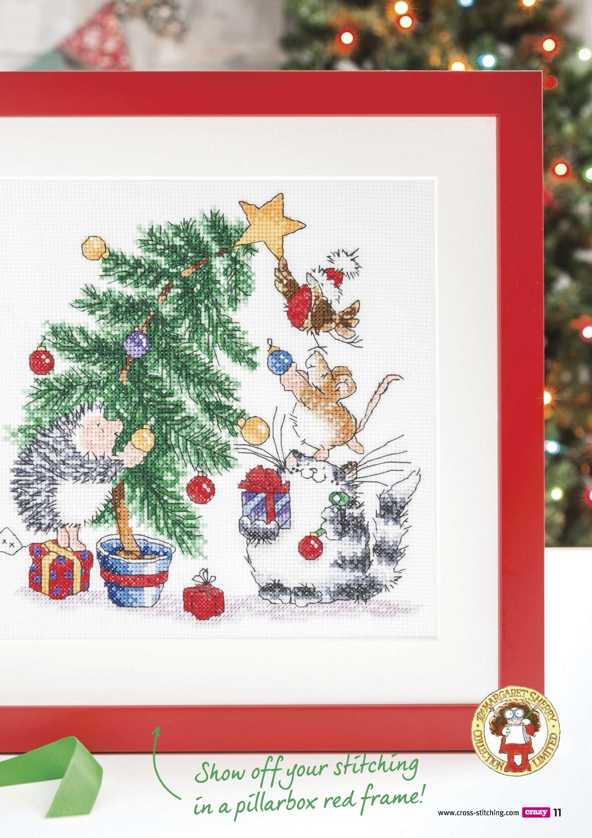 Cross stitch crazy 210 Christmas tree cat dog bird   Punto cruz ...