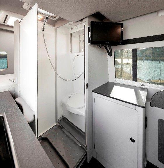 Variobad Campervan innen, Campingbus und Kleintransporter