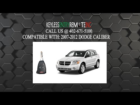 How To Change A 2007 2012 Dodge Caliber Key Fob Remote Battery Fcc Id Oht692427aa Key Fob Programming Instructions Dodge Caliber Key Fob Caliber