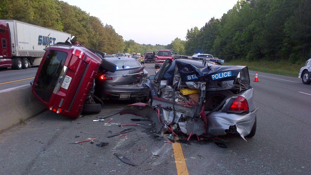 Pin by Len Lucas on Back the Blue Car crash, Police cars