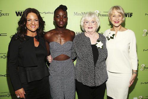 Cathy Schulman, Lupita Nyong'o, June Squibb & Hellen Mirren